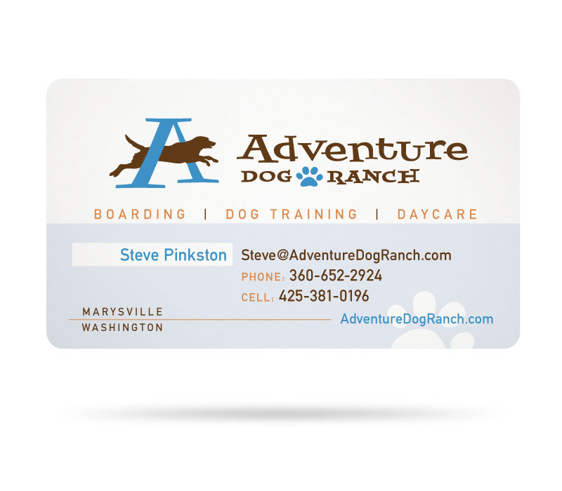Adventure Dog Ranch Business Card