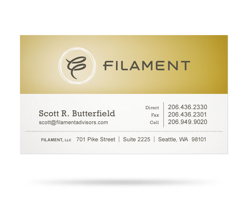 Filament Business Card