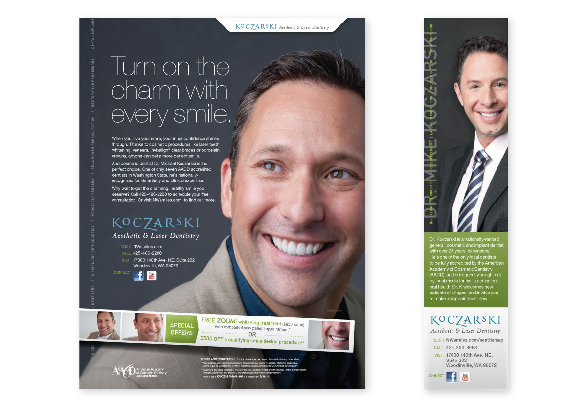 Dr. Koczarski Full and Third-page Ad