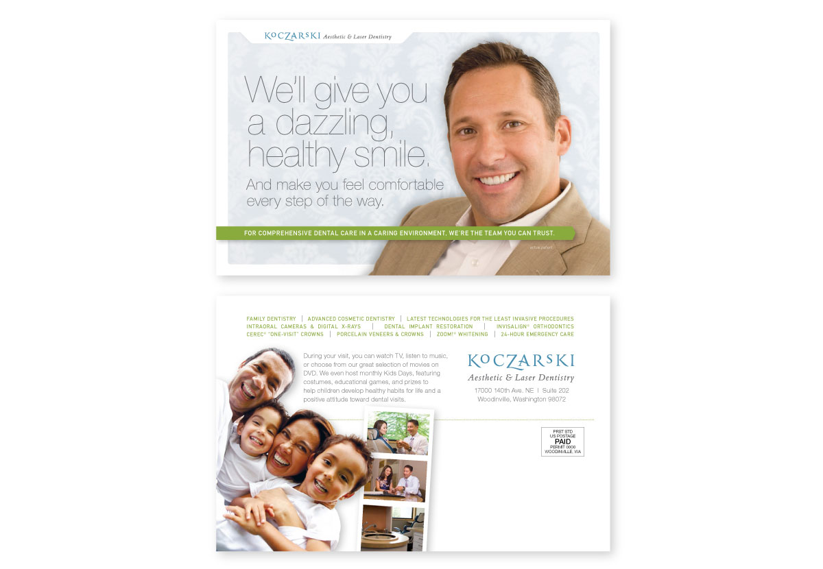 Dr. Koczarski Direct Mail Postcard