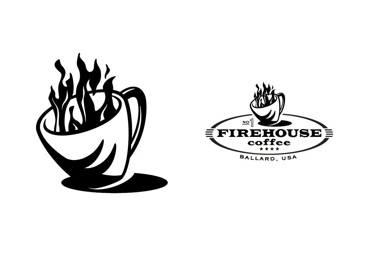 Firehouse Coffee Identity – Black