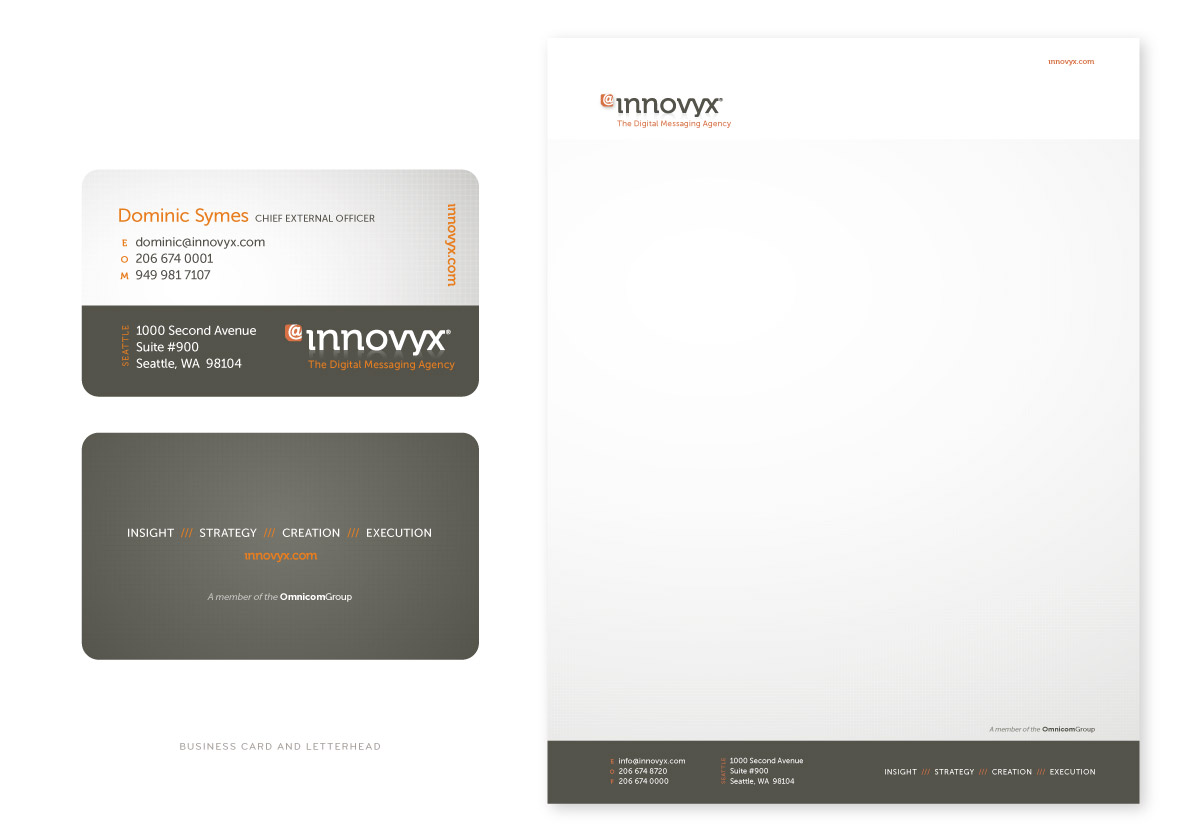 Innovyx Business Card and Letterhead