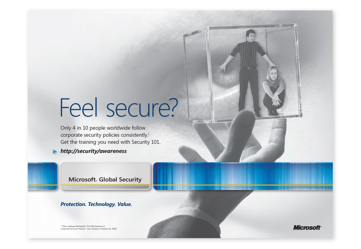 Microsoft Global Security Poster