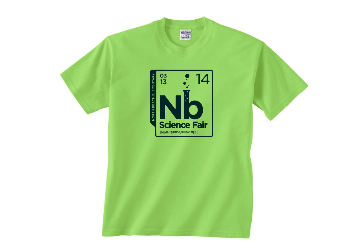 North Beach Elementary Science Fair T-shirt