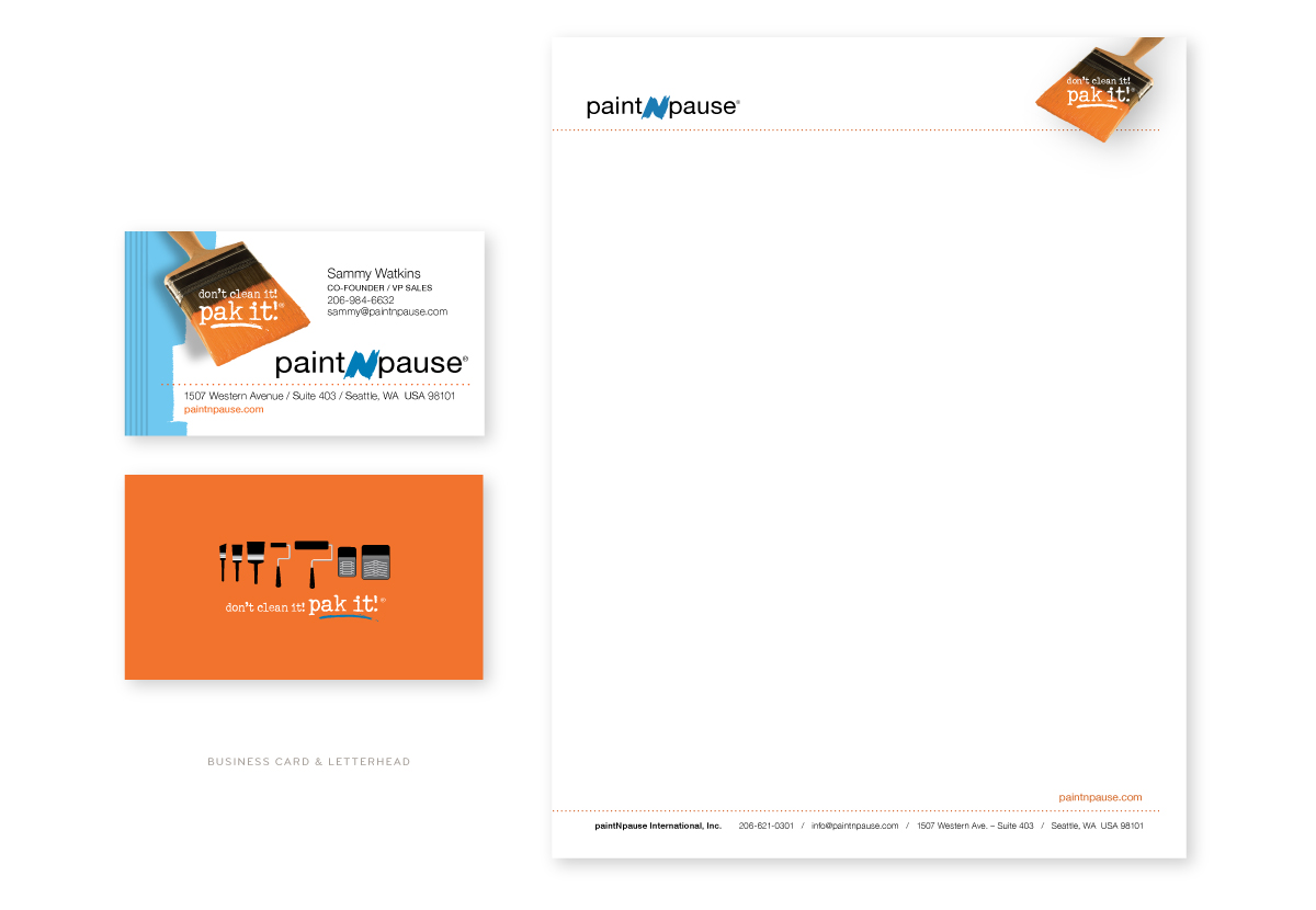 Paint-n-Pause Business Card and Letterhead