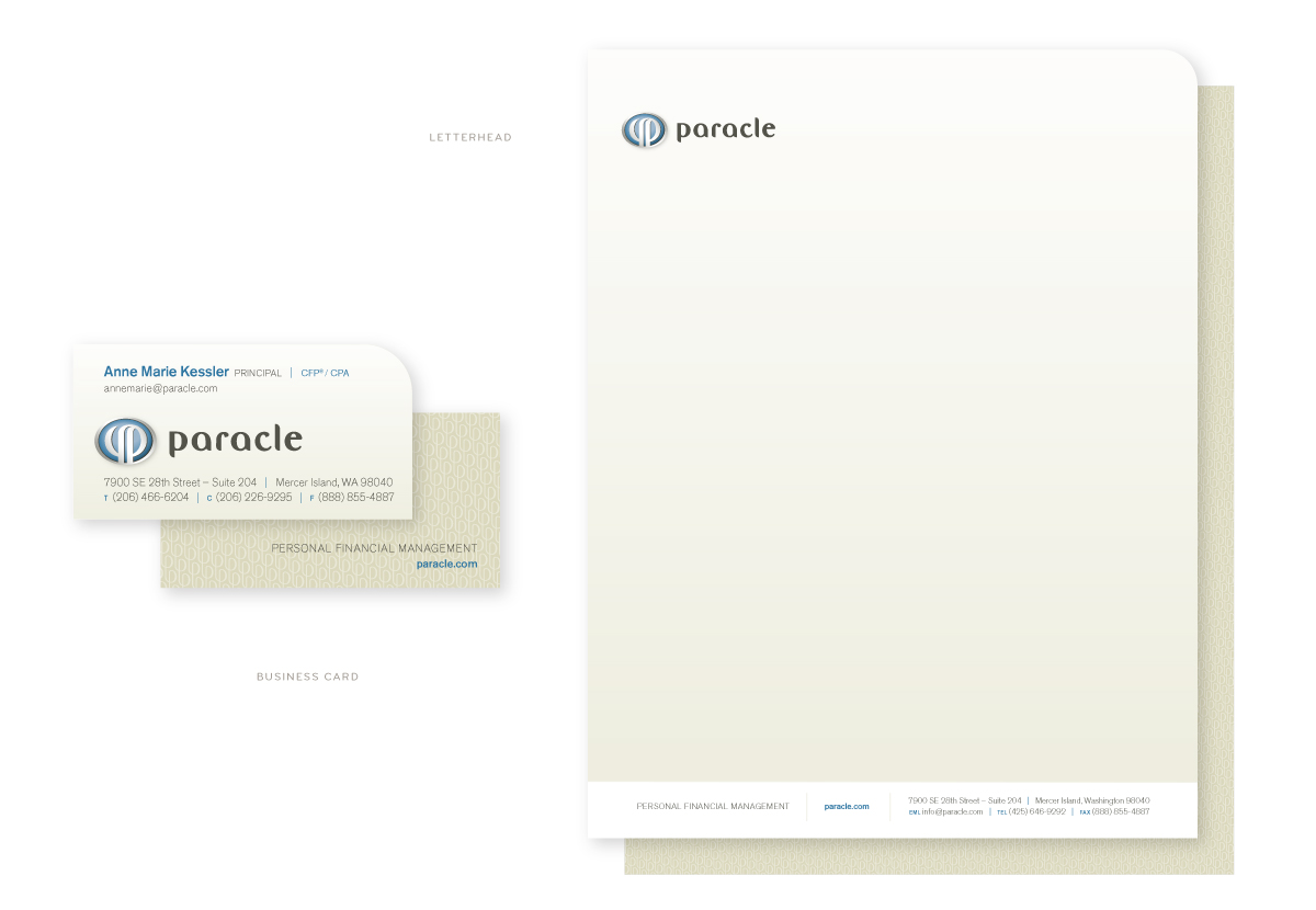 Paracle Business Card and Letterhead