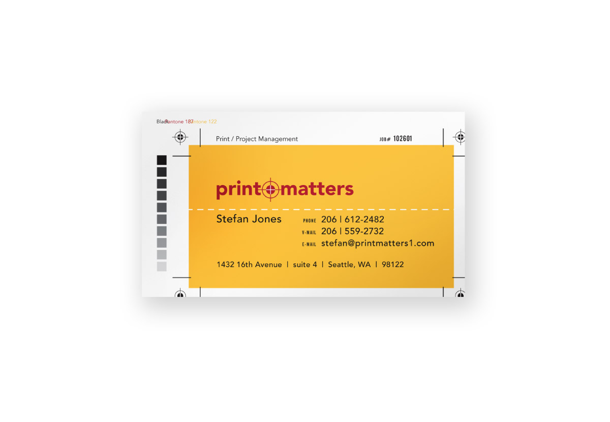 Print Matters Business Card