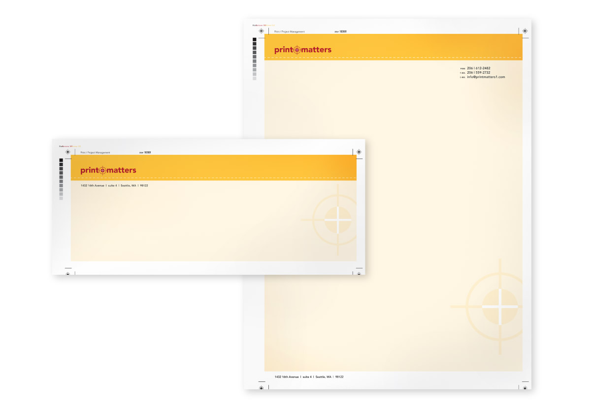 Print Matters Envelope and Letterhead