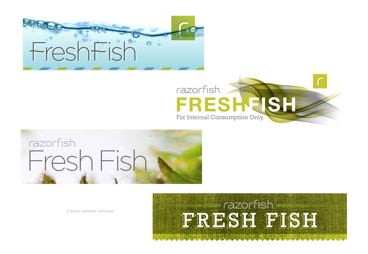 Razorfish Fresh Fish Header Layouts