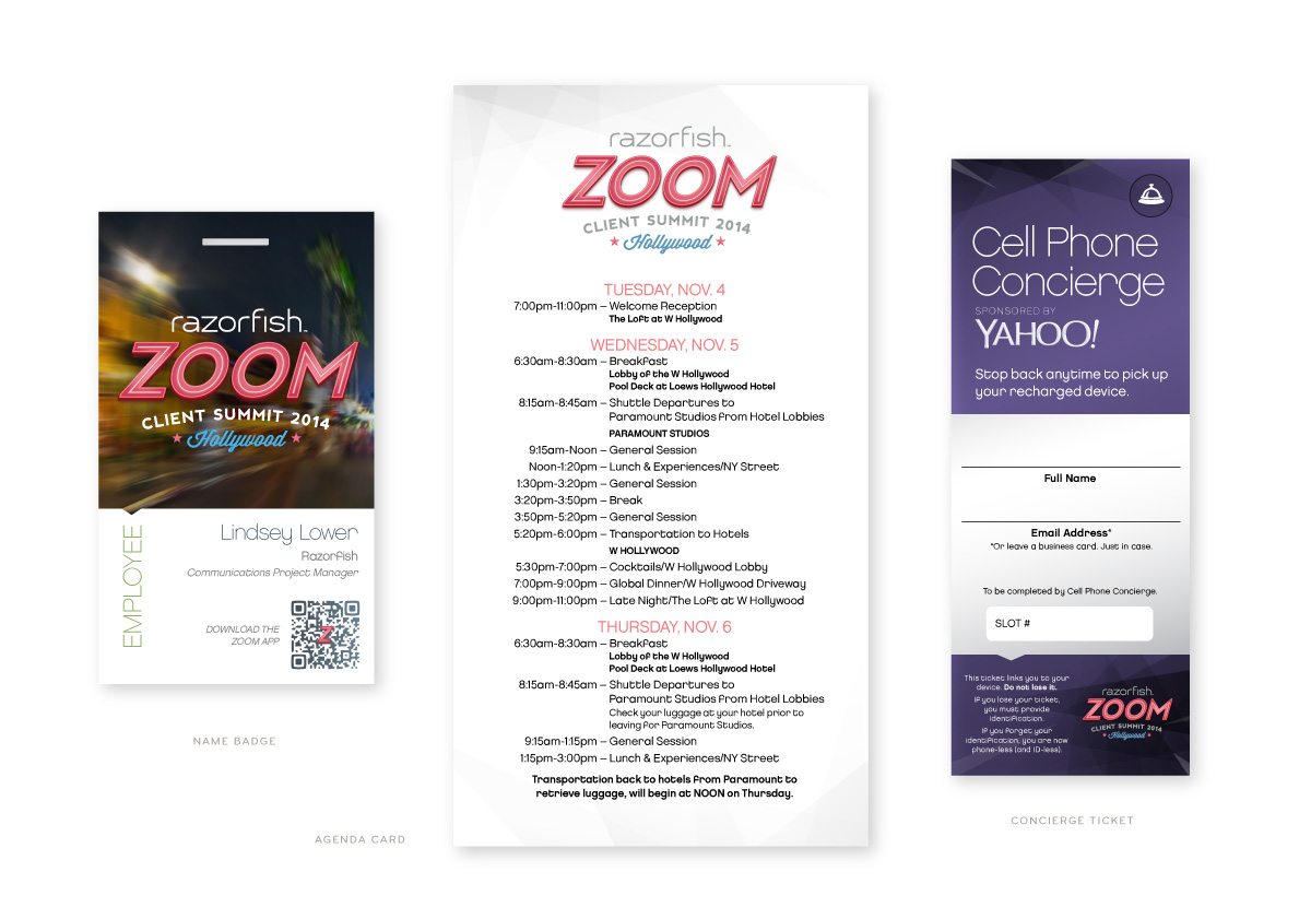 Razorfish Summit Schedule Card
