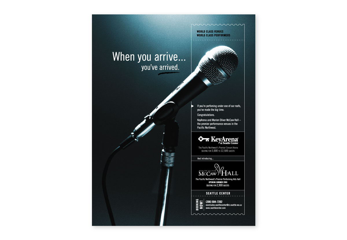 Seattle Center Pollstar Magazine Ad