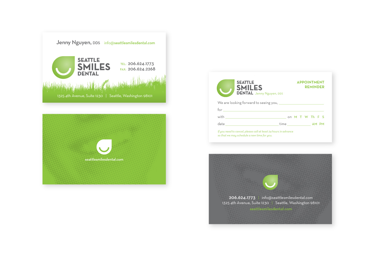 Seattle Smiles Dental Business Card and Letterhead