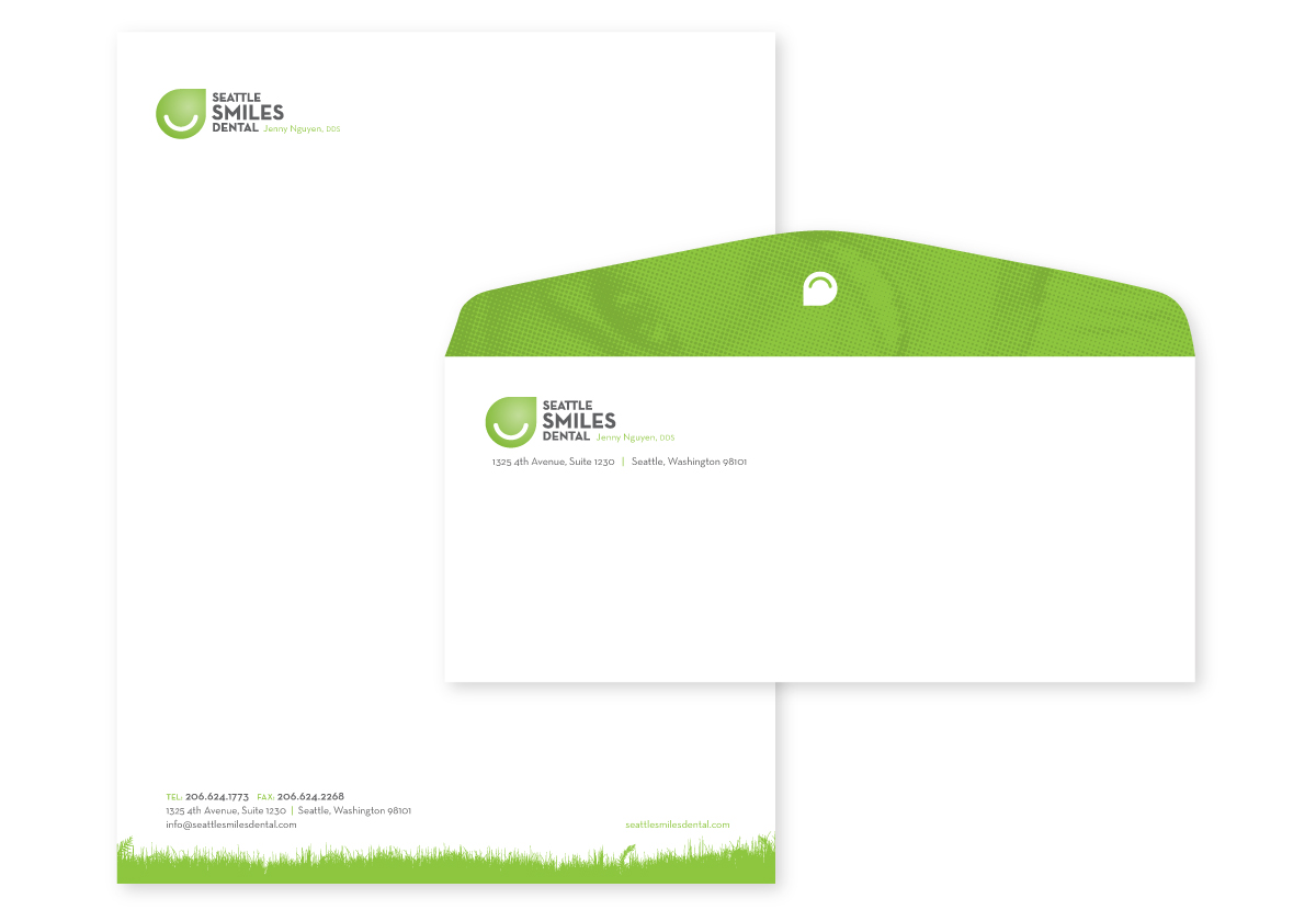 Seattle Smiles Dental Envelope and Labels