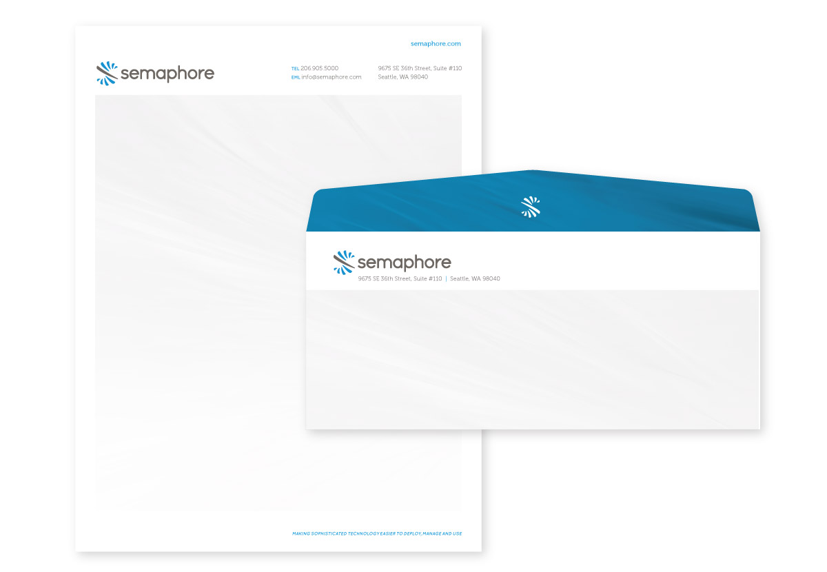 Semaphore Letterhead and Envelope