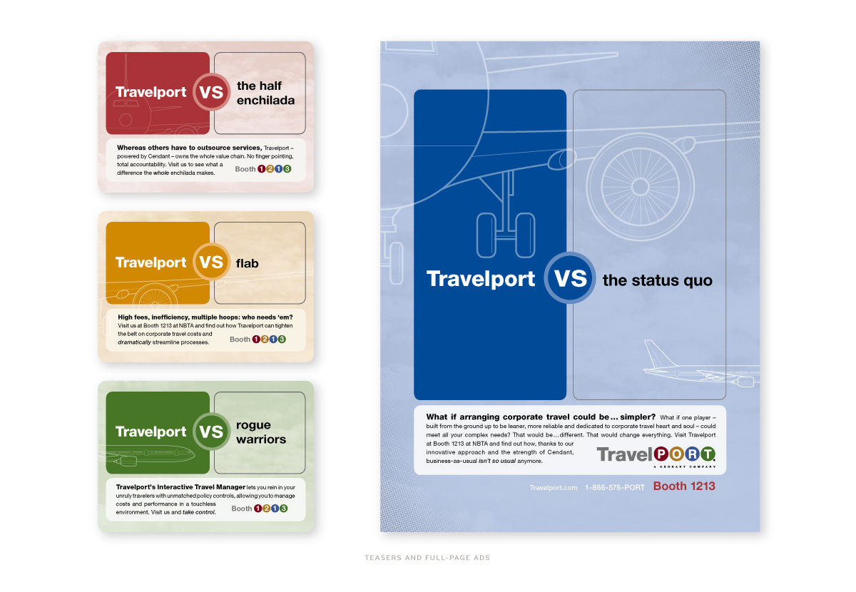 Travelport Tradeshow Ads