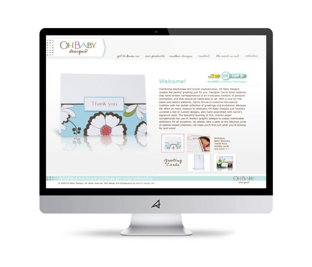 Oh Baby! Designs Website