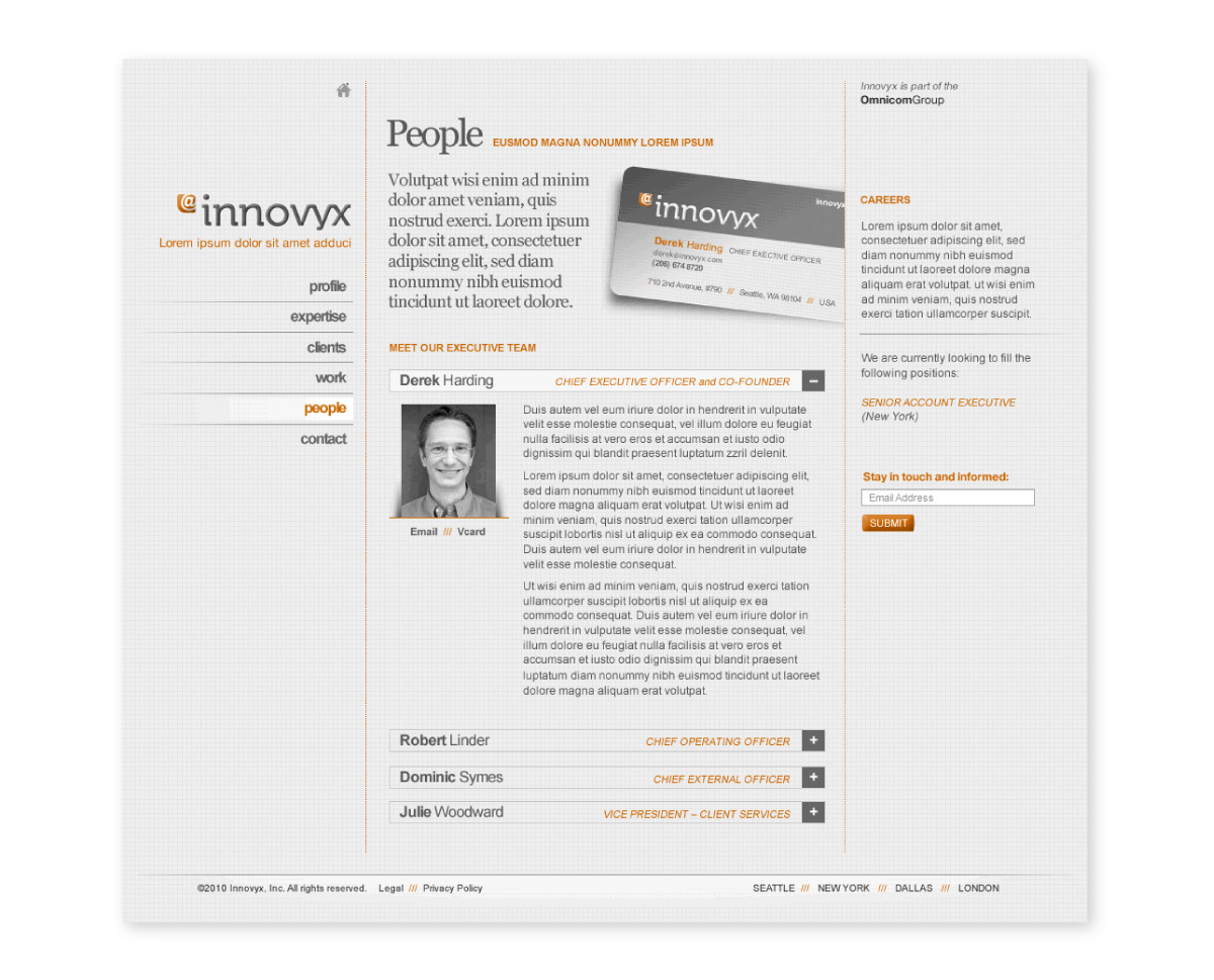Innovyx website interior page