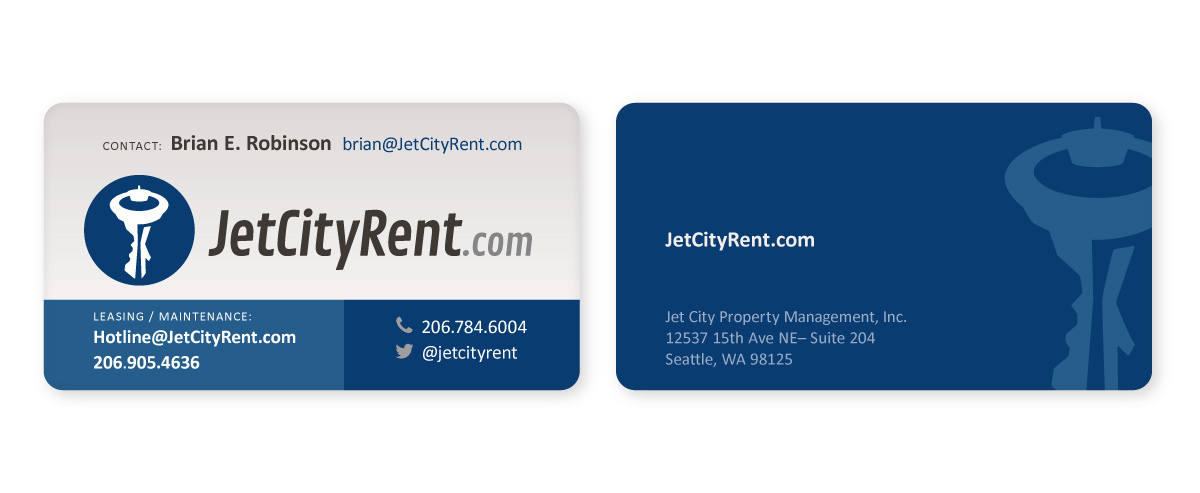 Jet City Rent Business Card