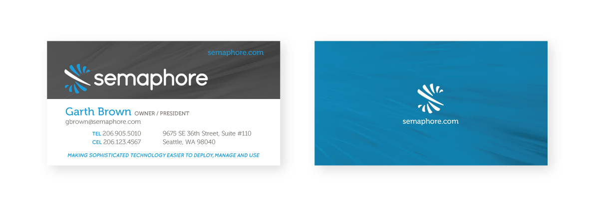 Semaphore Business Card