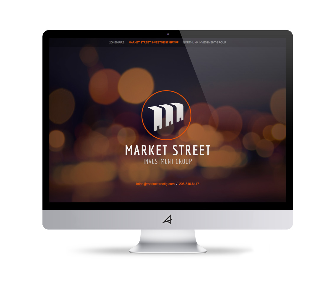 Market Street Investment Group Website – Desktop